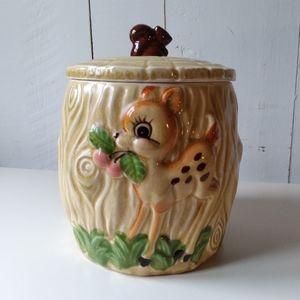 vintage Bambi cookies jar